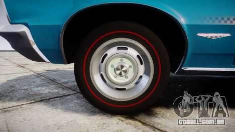 Pontiac GTO 1965 victory cars para GTA 4 vista de volta