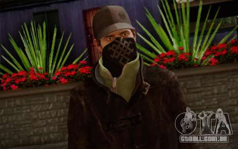 Aiden Pearce from Watch Dogs v2 para GTA San Andreas terceira tela
