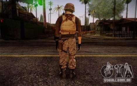 Brady from Battlefield 3 para GTA San Andreas segunda tela