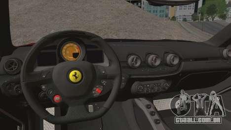 Ferrari F12 Berlinetta 2013 para GTA San Andreas vista interior