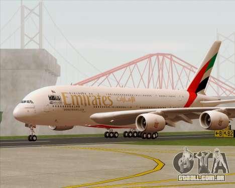 Airbus A380-800 Emirates 40 Anniversary Sticker para GTA San Andreas vista interior