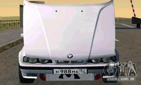 BMW 525 Turbo para GTA San Andreas traseira esquerda vista