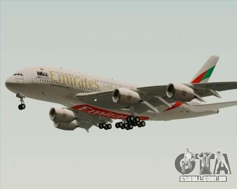 Airbus A380-800 Emirates 40 Anniversary Sticker para GTA San Andreas vista direita