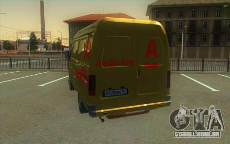 Gazela 2705 Coleção Do Banco Alfa para GTA San Andreas traseira esquerda vista
