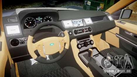 Range Rover Sport Kahn Tuning 2010 para GTA 4 vista interior