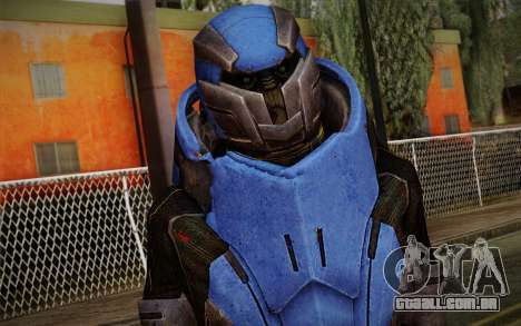 Garrus Helmet from Mass Effect 2 para GTA San Andreas terceira tela