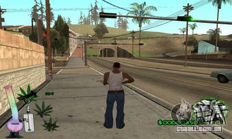 C-HUD Canabis para GTA San Andreas segunda tela