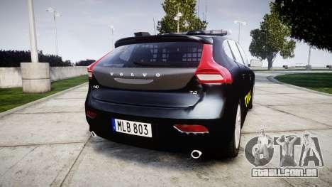 Volvo V40 Swedish TULL [ELS] para GTA 4 traseira esquerda vista