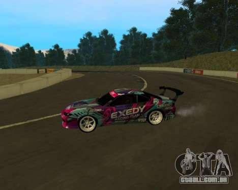 Nissan Silvia S15 EXEDY para GTA San Andreas esquerda vista