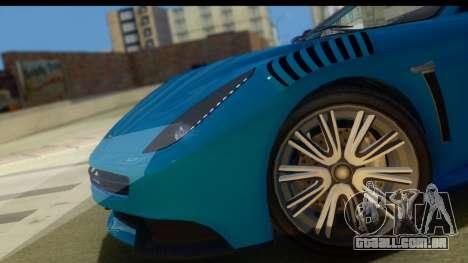 GTA 5 Dewbauchee Massacro para GTA San Andreas traseira esquerda vista