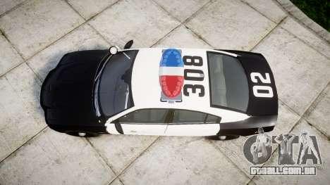 Dodge Charger 2013 LAPD [ELS] para GTA 4 vista direita