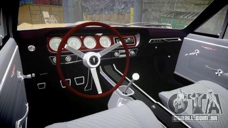 Pontiac GTO 1965 GeeTO Tiger para GTA 4 vista interior