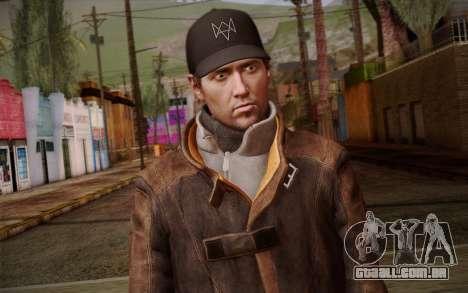Aiden Pearce from Watch Dogs v10 para GTA San Andreas terceira tela