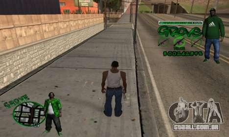 C-HUD Groove para GTA San Andreas segunda tela