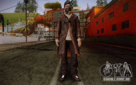 Aiden Pearce from Watch Dogs v4 para GTA San Andreas