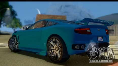 GTA 5 Dewbauchee Massacro para GTA San Andreas esquerda vista