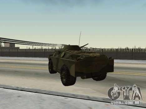 BRDM 2 para GTA San Andreas vista traseira