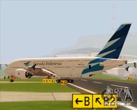 Airbus A380-800 Garuda Indonesia para GTA San Andreas esquerda vista
