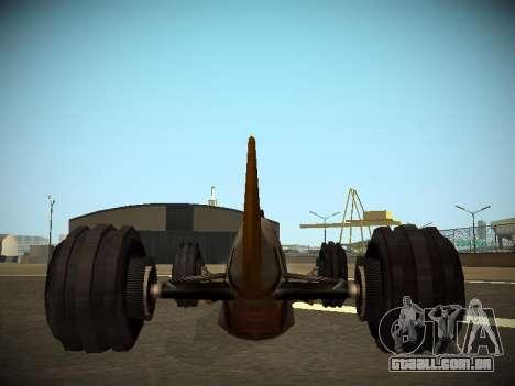 Rustler Rod Beta para GTA San Andreas vista traseira