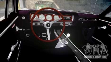 Pontiac GTO 1965 victory cars para GTA 4 vista interior