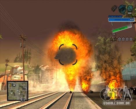 Excelente C-HUD para GTA San Andreas