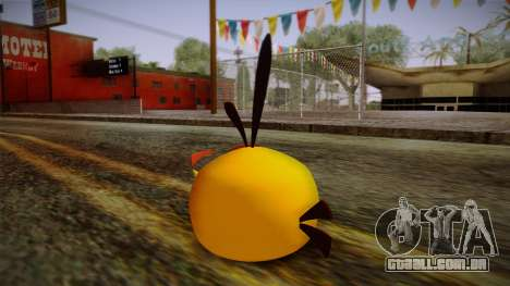 Orange Bird from Angry Birds para GTA San Andreas segunda tela