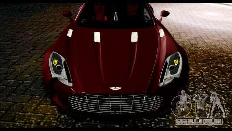Aston Martin One-77 Black and Red para GTA San Andreas traseira esquerda vista
