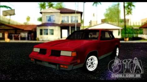 Oldsmobile Cutlass 1987 Beta para GTA San Andreas