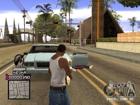 C-HUD by Kevka para GTA San Andreas por diante tela