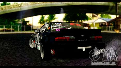 Nissan Silvia S13 Fail Crew v2 para GTA San Andreas esquerda vista