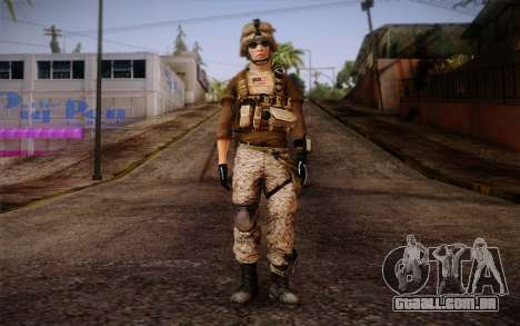 Brady from Battlefield 3 para GTA San Andreas