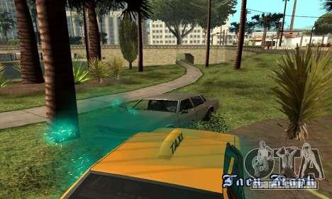 Turquesa efeitos para GTA San Andreas por diante tela
