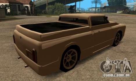 Beta Slamvan para GTA San Andreas traseira esquerda vista