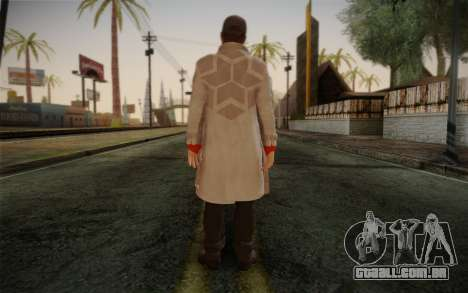 Aiden Pearce from Watch Dogs v1 para GTA San Andreas segunda tela