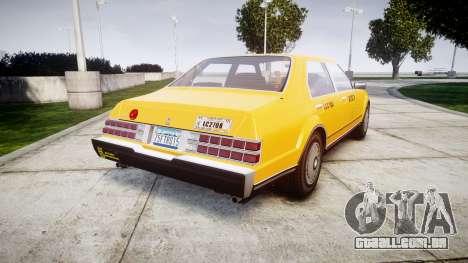 Albany Esperanto Taxi para GTA 4 traseira esquerda vista