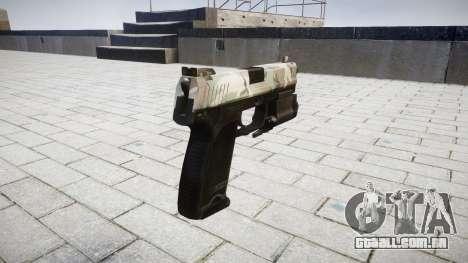 Pistola HK USP 45 floresta para GTA 4