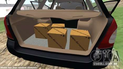 Daewoo Nubira eu Vagão CDX-NOS de 1999 para GTA San Andreas vista interior