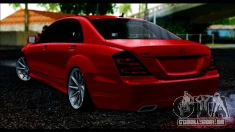 Mercedes-Benz S70 W221 para GTA San Andreas esquerda vista
