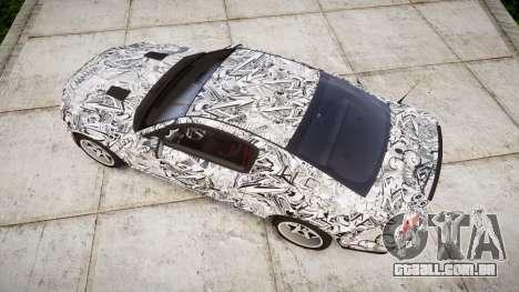 Ford Mustang Shelby GT500 2013 Sharpie para GTA 4 vista direita