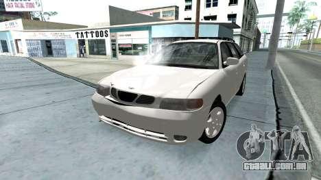 Daewoo Nubira eu Vagão CDX-NOS de 1999 para o motor de GTA San Andreas