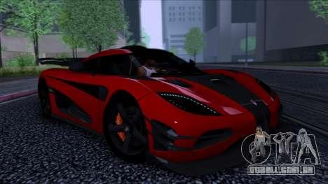 Koenigsegg One:1 2014 para GTA San Andreas