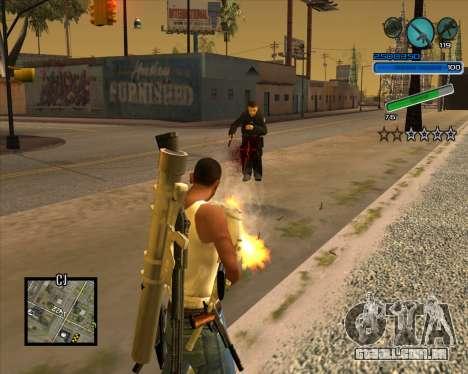 Excelente C-HUD para GTA San Andreas segunda tela