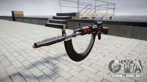 Автомат АК-47 Colimador. Focinho e HICAP targe para GTA 4