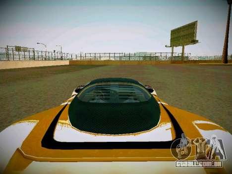 Cheetah из GTA 5 para GTA San Andreas vista traseira