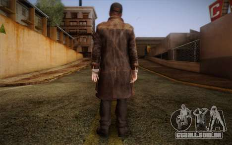 Aiden Pearce from Watch Dogs v10 para GTA San Andreas segunda tela