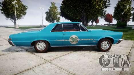 Pontiac GTO 1965 victory cars para GTA 4 esquerda vista