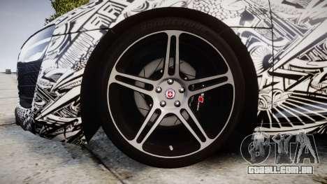 Audi R8 plus 2013 HRE rims Sharpie para GTA 4 vista de volta