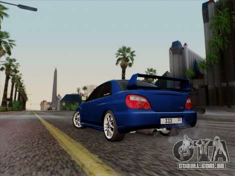 Subaru impreza WRX STI 2004 para GTA San Andreas traseira esquerda vista