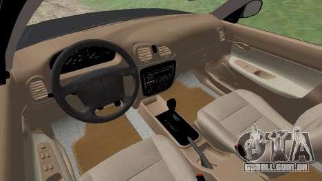 Daewoo Nubira eu Vagão CDX-NOS de 1999 para GTA San Andreas vista inferior