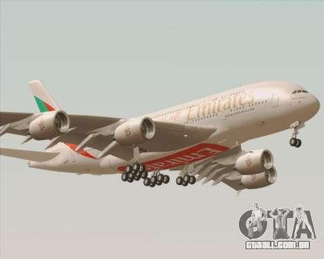 Airbus A380-800 Emirates 40 Anniversary Sticker para GTA San Andreas vista traseira